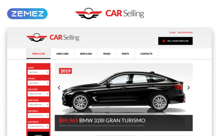 Car Dealer Responsive Website Template New Screenshots