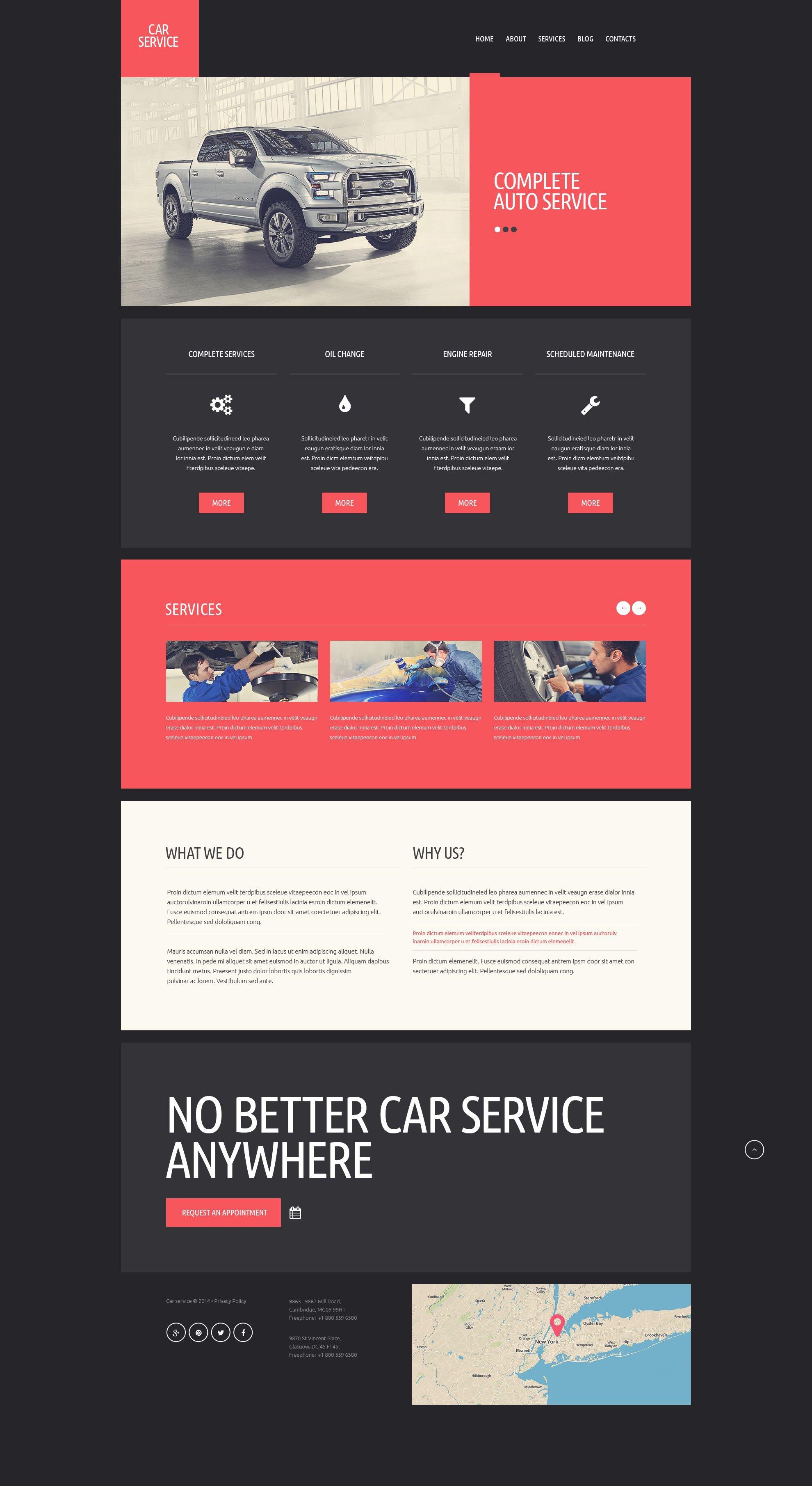 Car Repair Website Templates