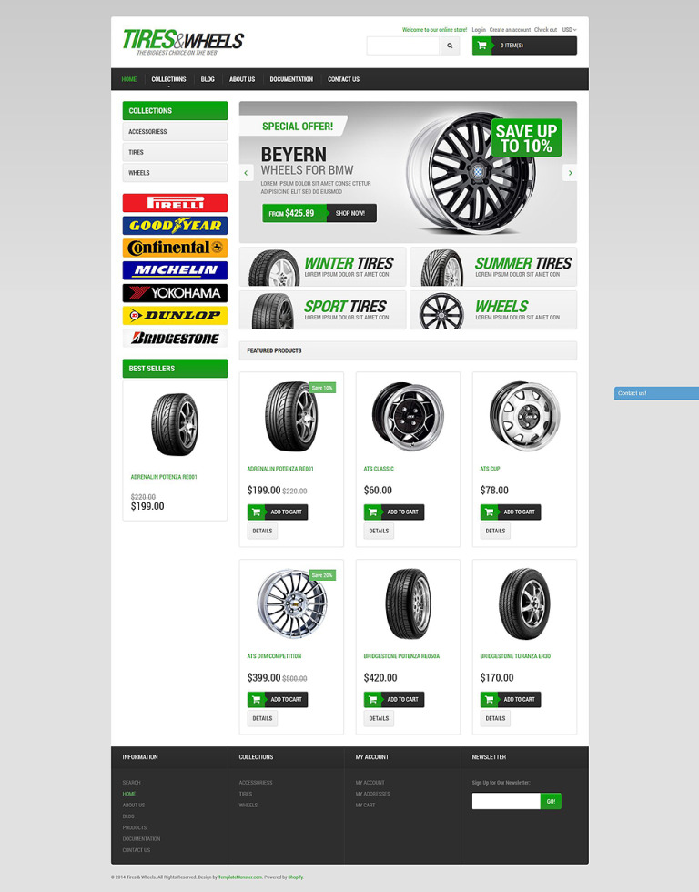 Car Tires Shopify Theme New Screenshots BIG