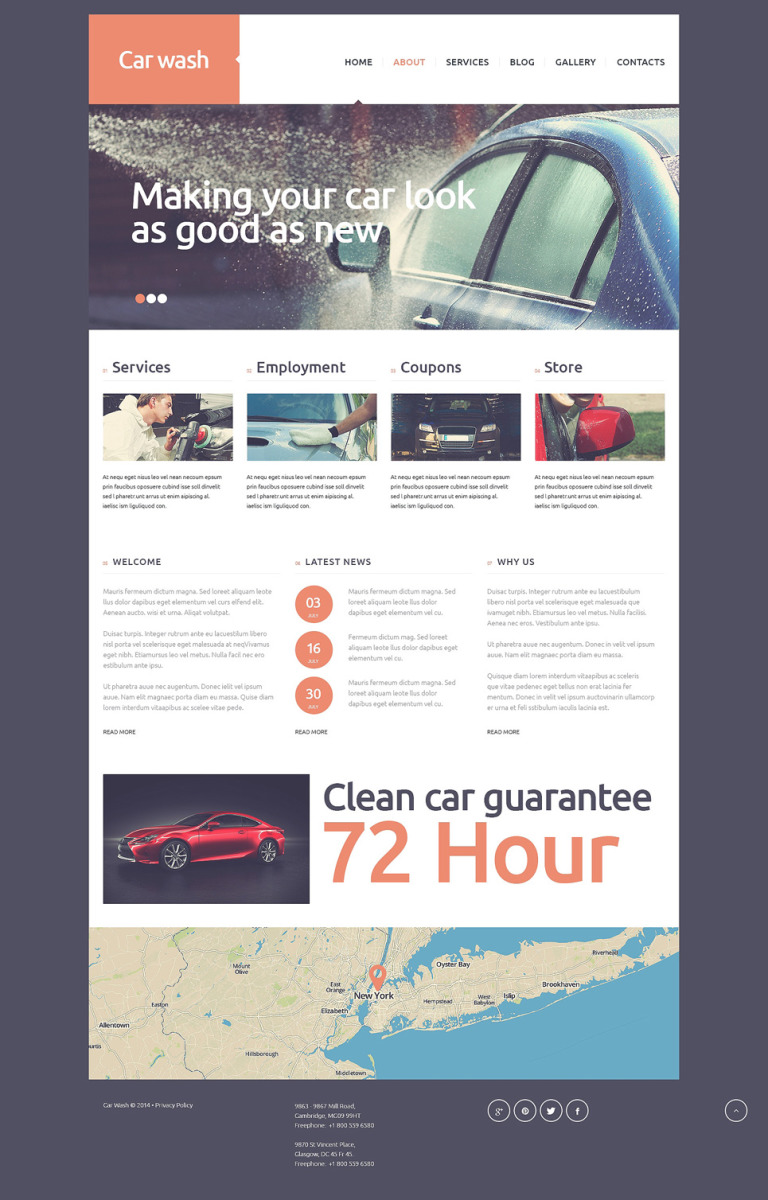 Car Wash Joomla Template New Screenshots BIG
