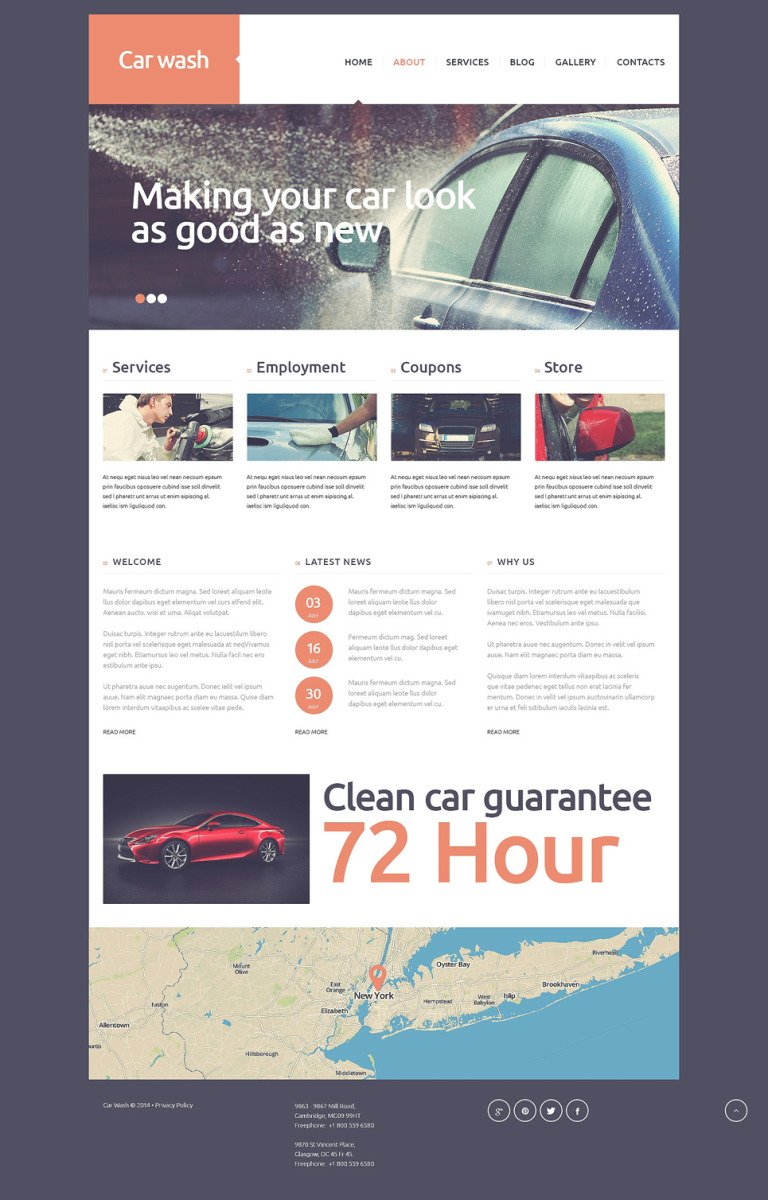 Car Wash Joomla Template New Screenshots BIG