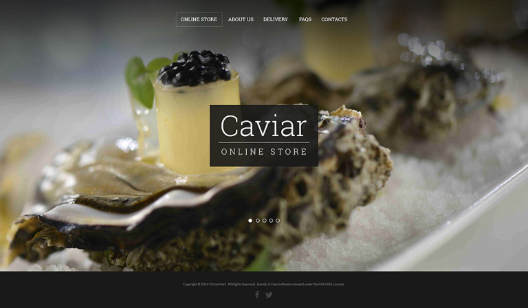 Caviar Gourmet VirtueMart Template New Screenshots BIG