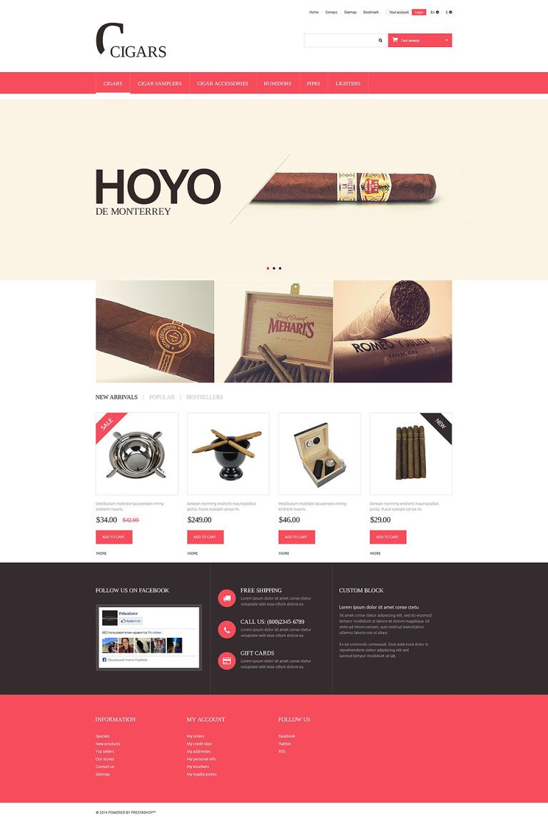 Cigars PrestaShop Theme New Screenshots BIG