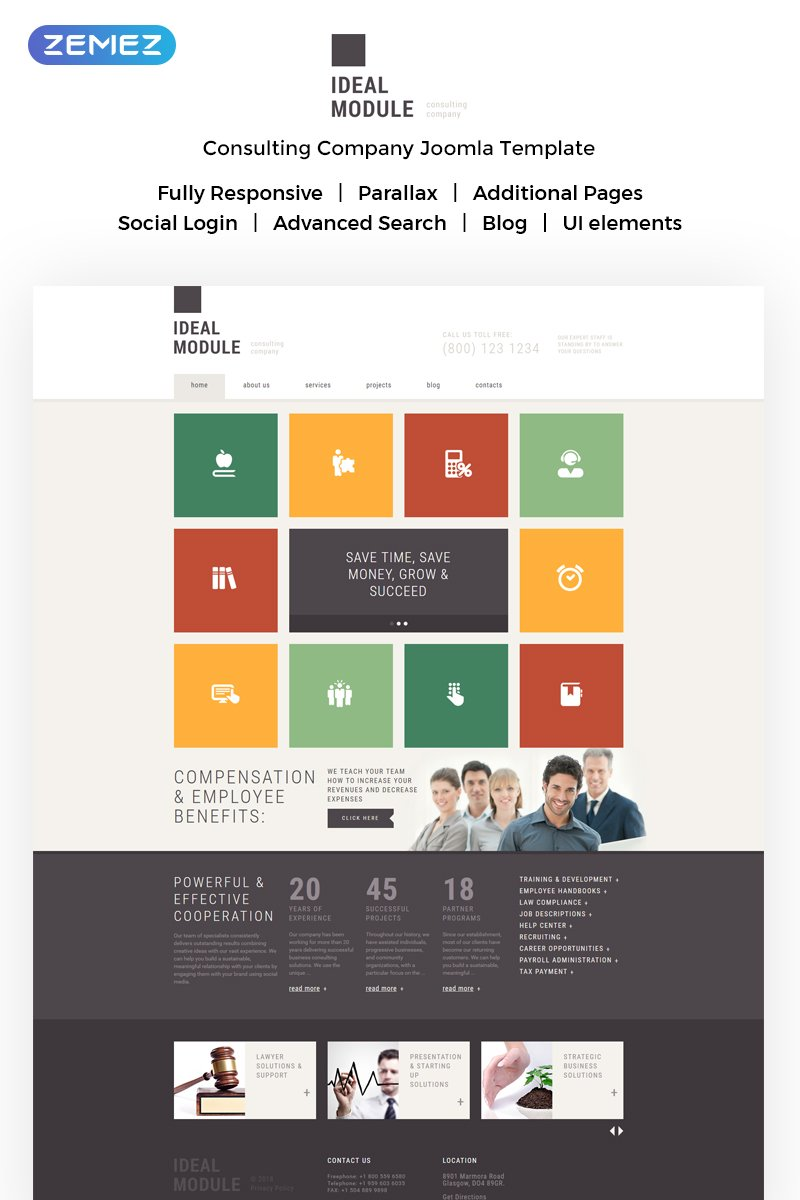 Consulting Agencies Joomla Template #51372