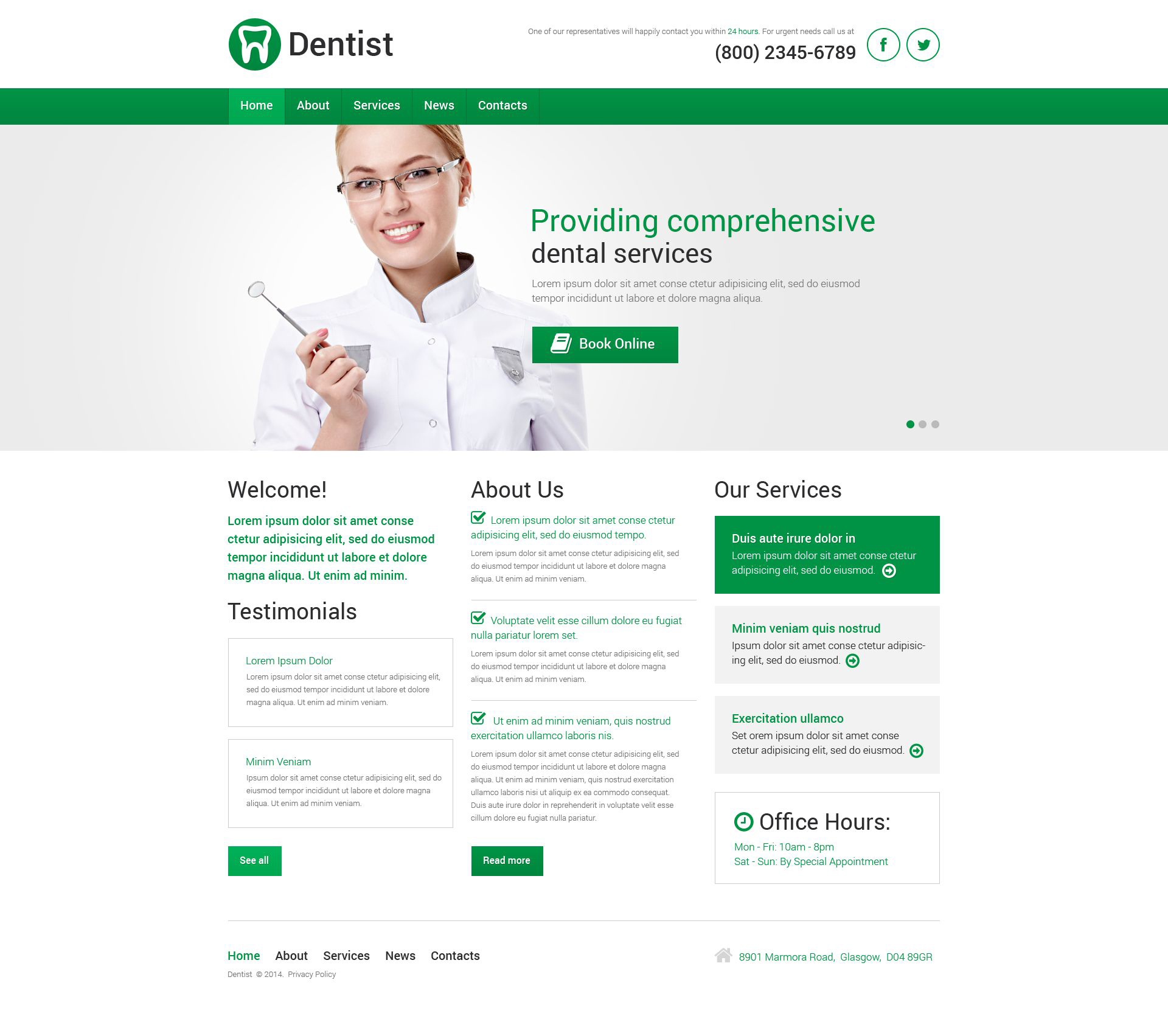 dentistry responsive wordpress theme 51357