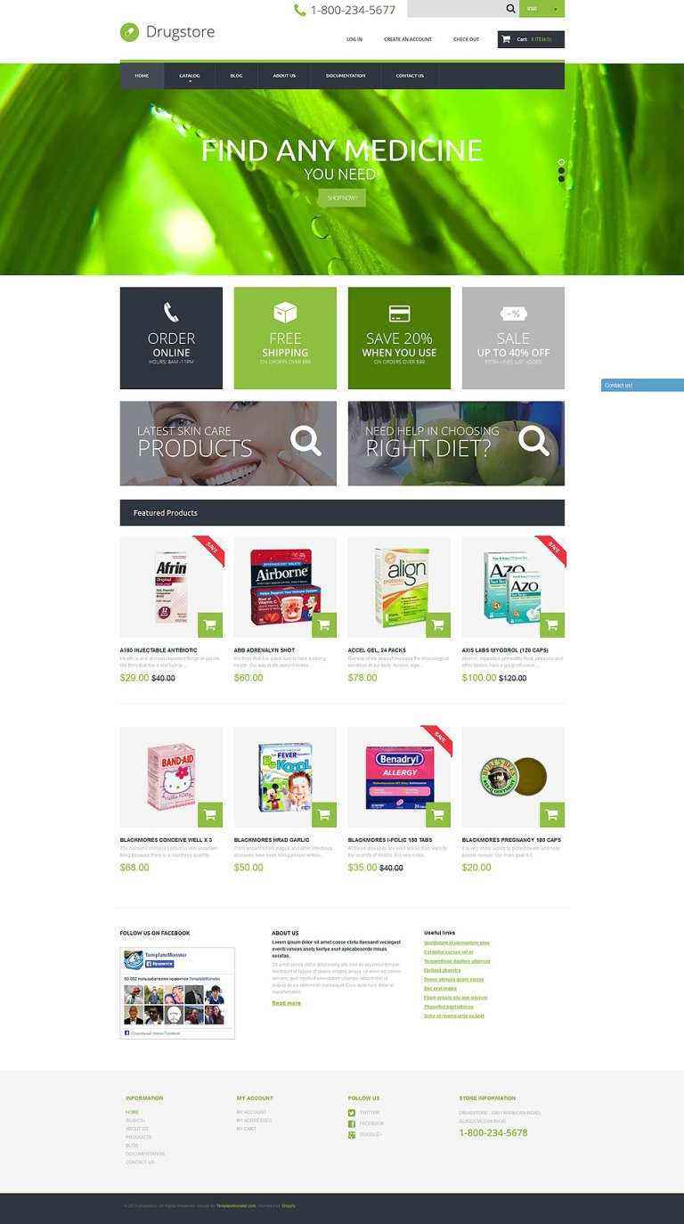 Drugstore Shopify Theme New Screenshots BIG