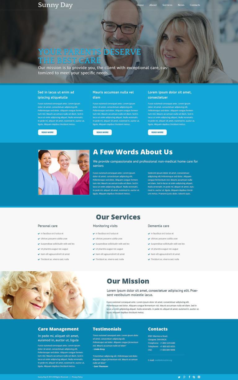 Elderly Care Center Joomla Template New Screenshots BIG