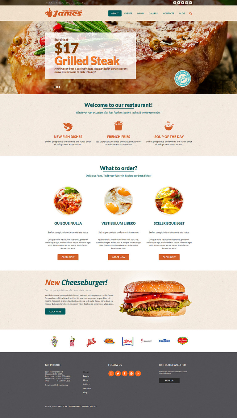 Fast Food Restaurant Joomla Template New Screenshots BIG