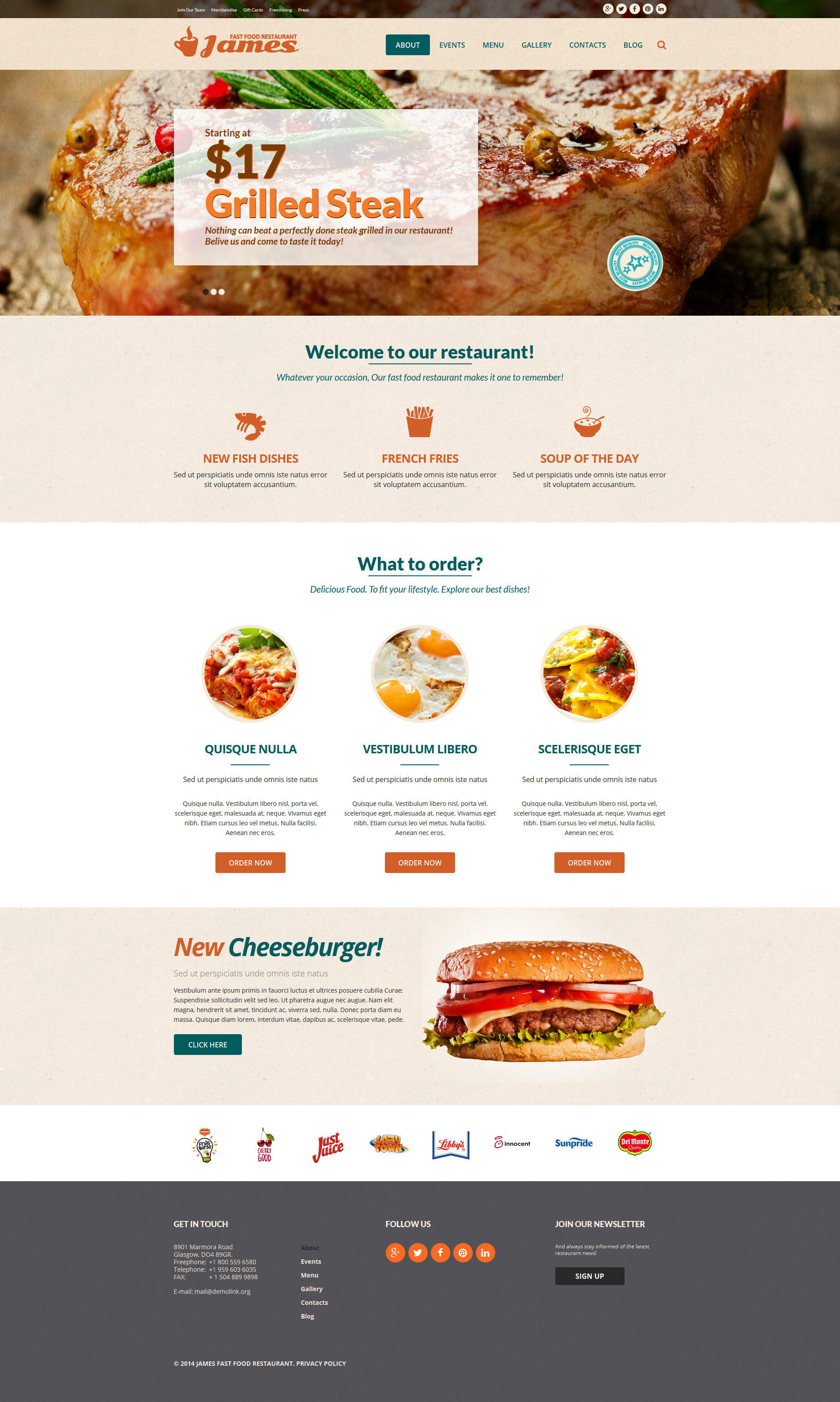 Fast Food Restaurant Joomla Template
