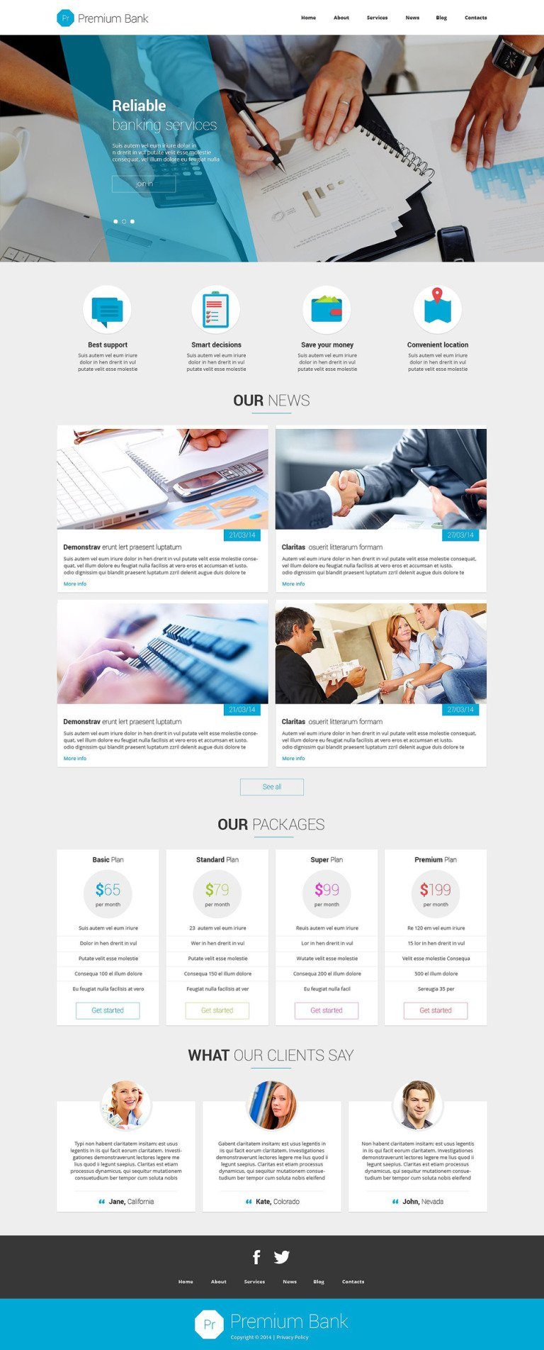 Financial Institution Joomla Template New Screenshots BIG