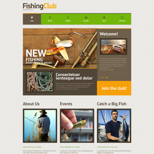 Fishing Club - WordPress Template based on Bootstrap