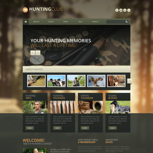 Hunting Club - WordPress Template based on Bootstrap