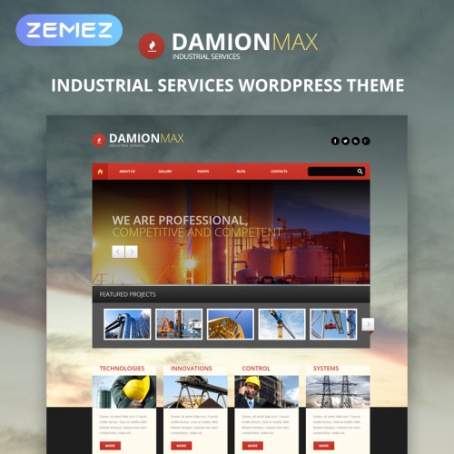 DamionMax - WordPress Template based on Bootstrap