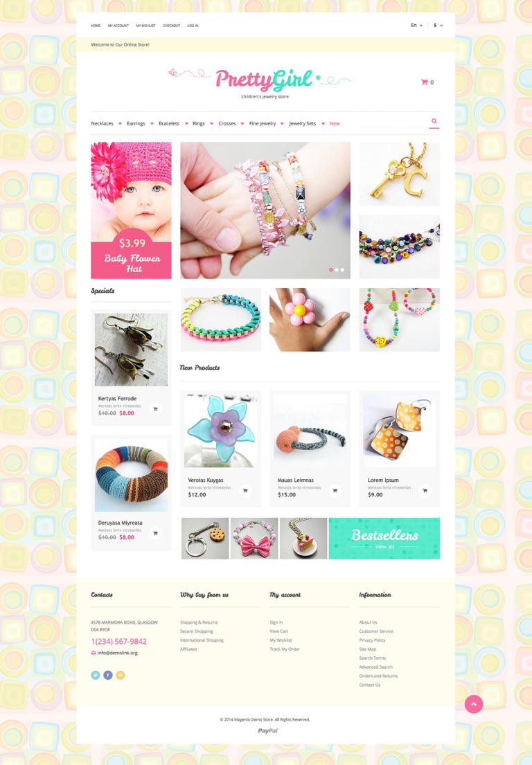 Kids Jewelry Magento Theme New Screenshots BIG