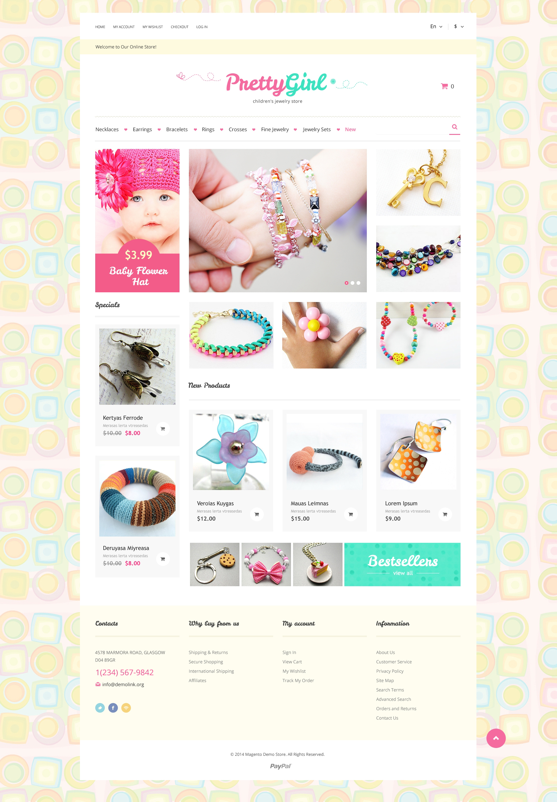 Kids Jewelry Magento Theme - screenshot