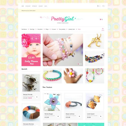 Pretty Girl - Responsive Magento Jewelry Store Template
