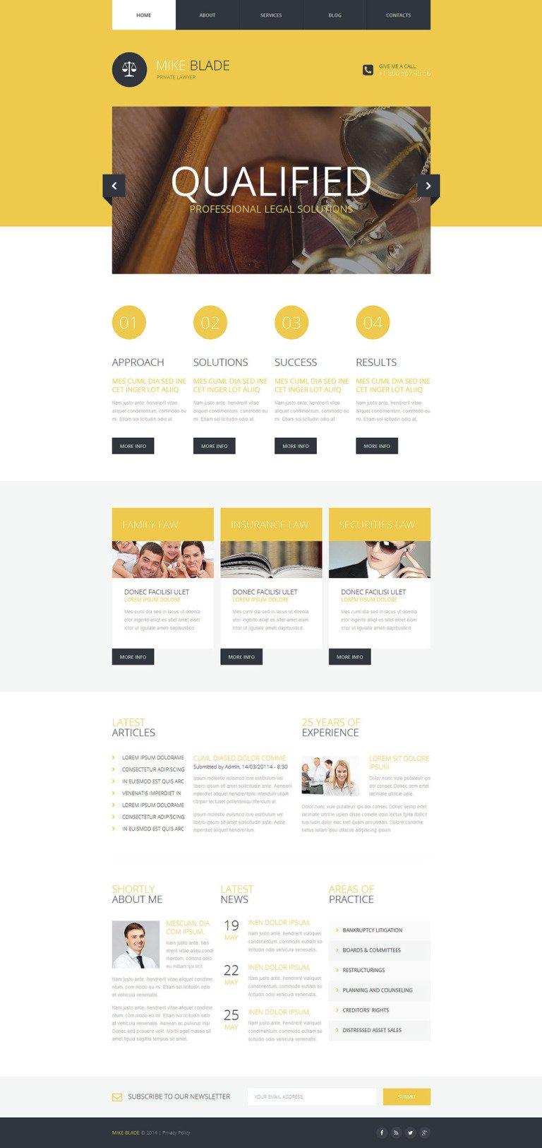 Lawyer Responsive Website Template New Screenshots BIG