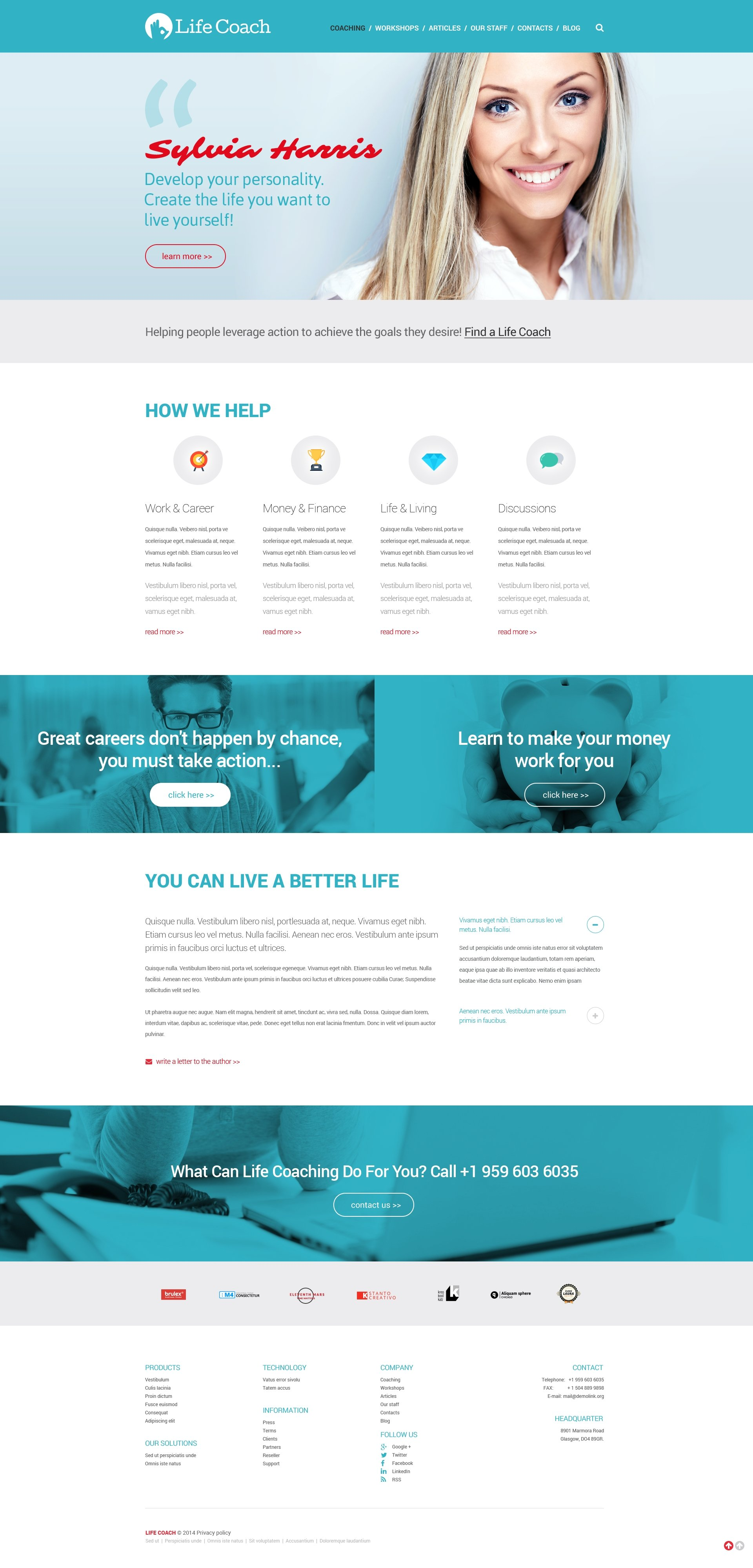 Life Coach Website Templates