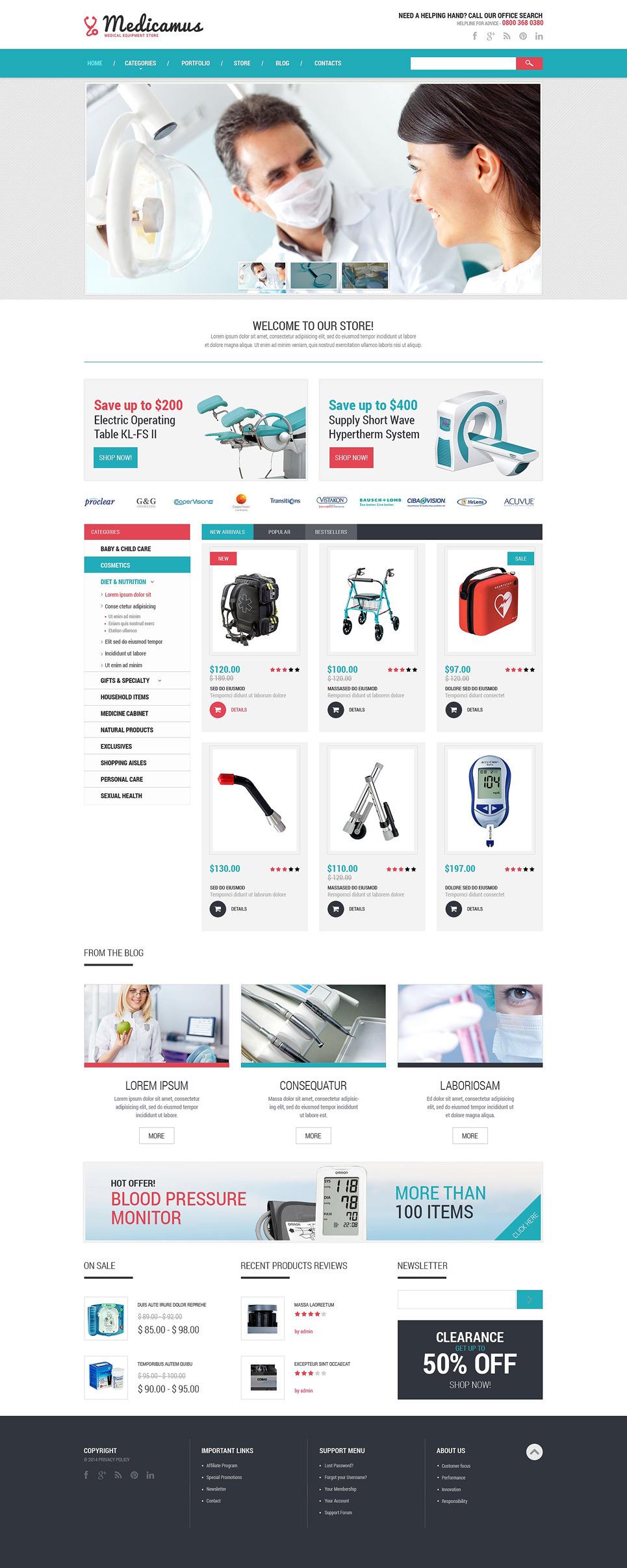 Medical Equipment PSD Template New Screenshots BIG