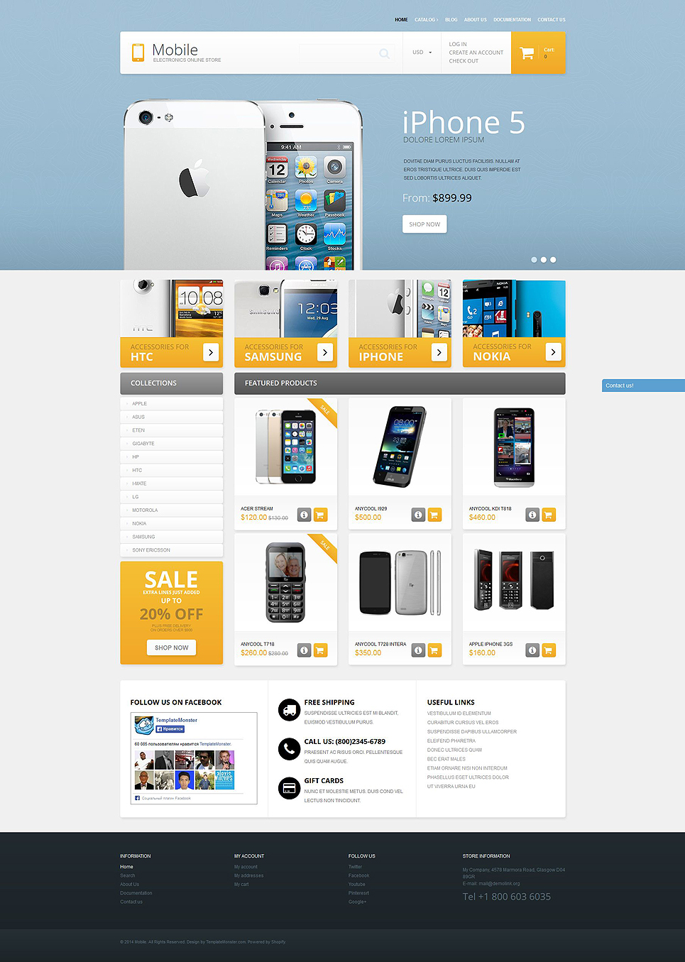 Mobile phones shopify theme 51378 for Designer flash sale sites