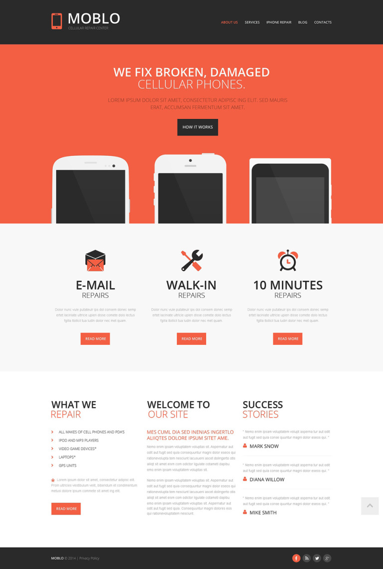 Mobile Store Responsive Website Template New Screenshots BIG