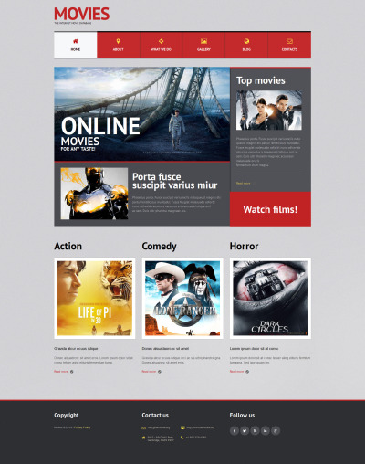 Movie Responsive WordPress Theme #51300