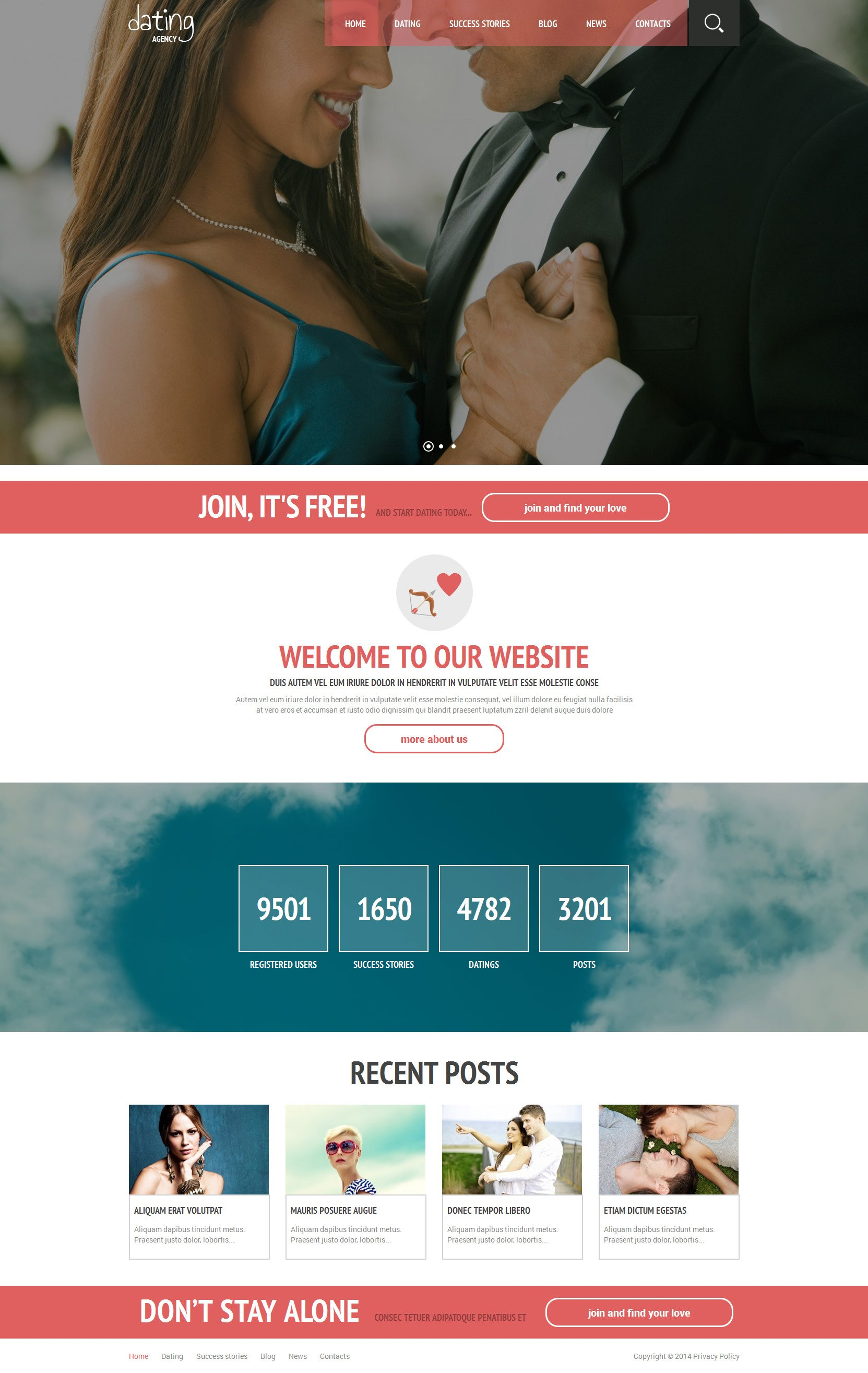 Online Romance WordPress Theme - screenshot