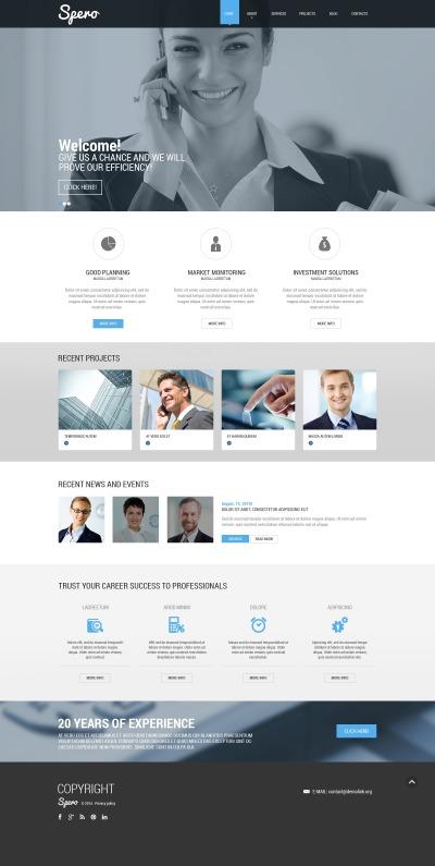 Responsive Plantilla Web #51388 para Sitio de  para Sitio de Negocio y Servicios