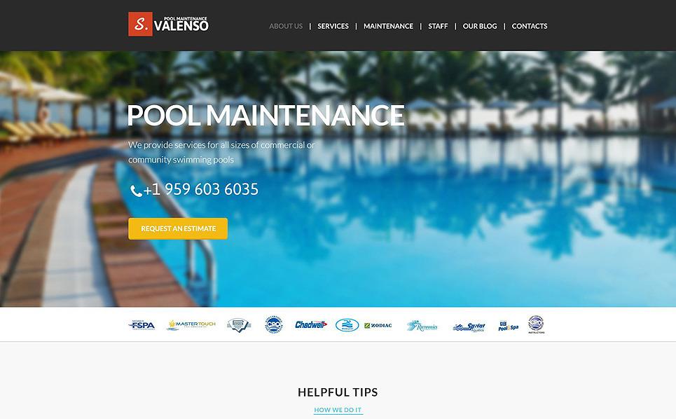 Pool maintenance joomla template 51398 - Free swimming pool maintenance software ...