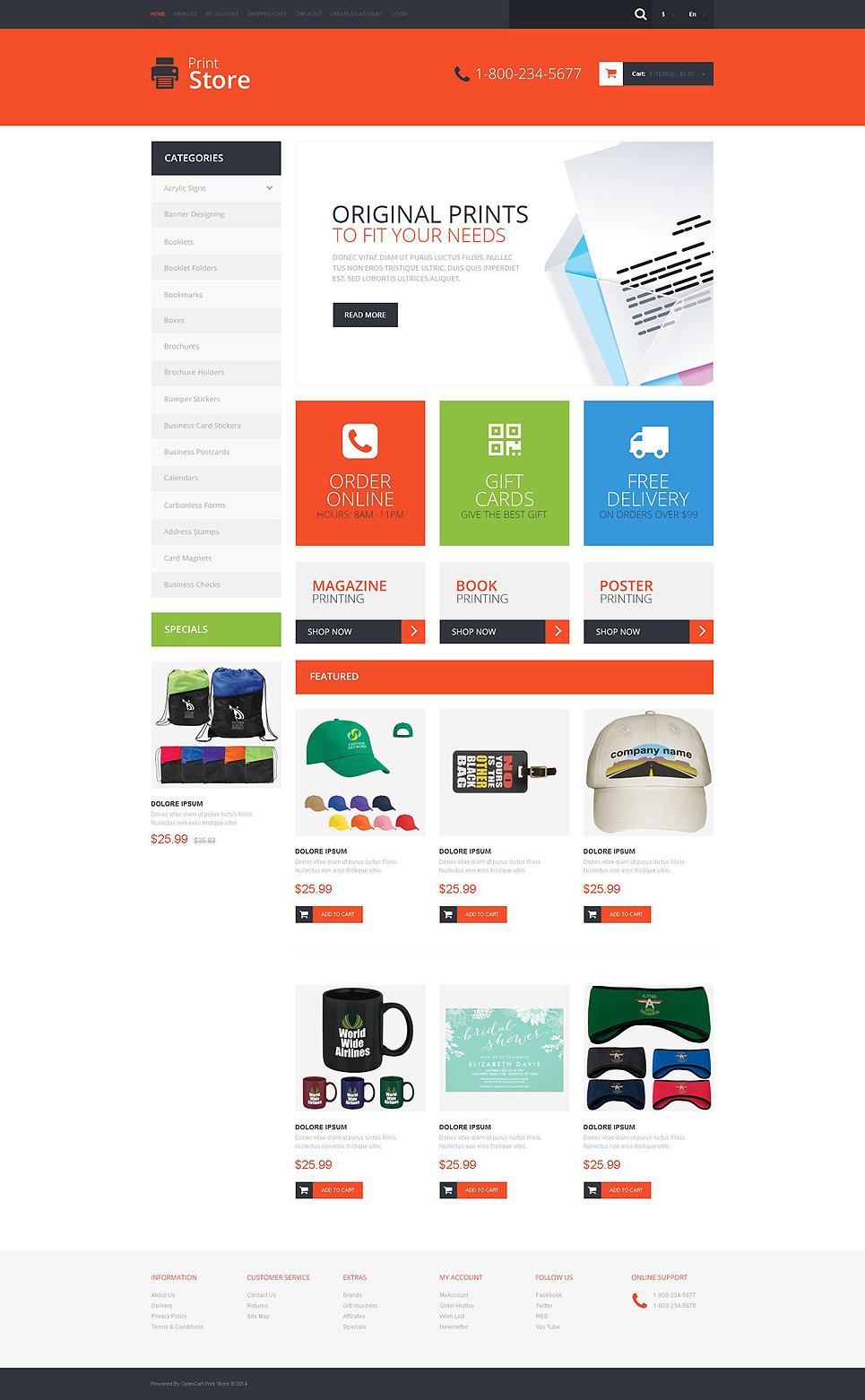 Print Shop Responsive OpenCart Template New Screenshots BIG