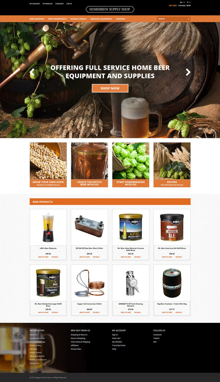 Pro Beer Brewing Magento Theme New Screenshots BIG