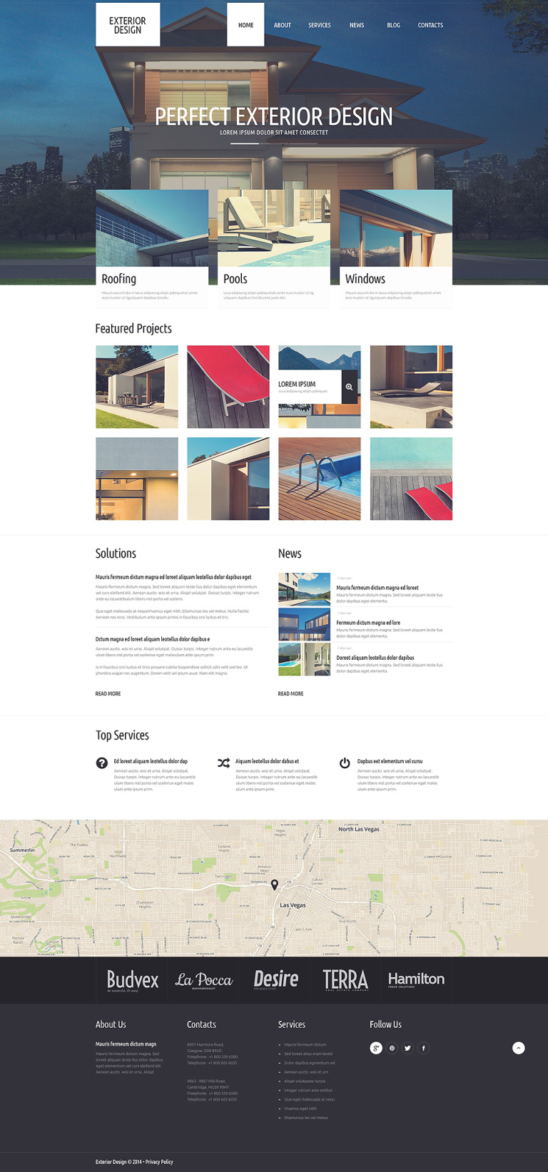 Refined Exterior Design WordPress Theme New Screenshots BIG