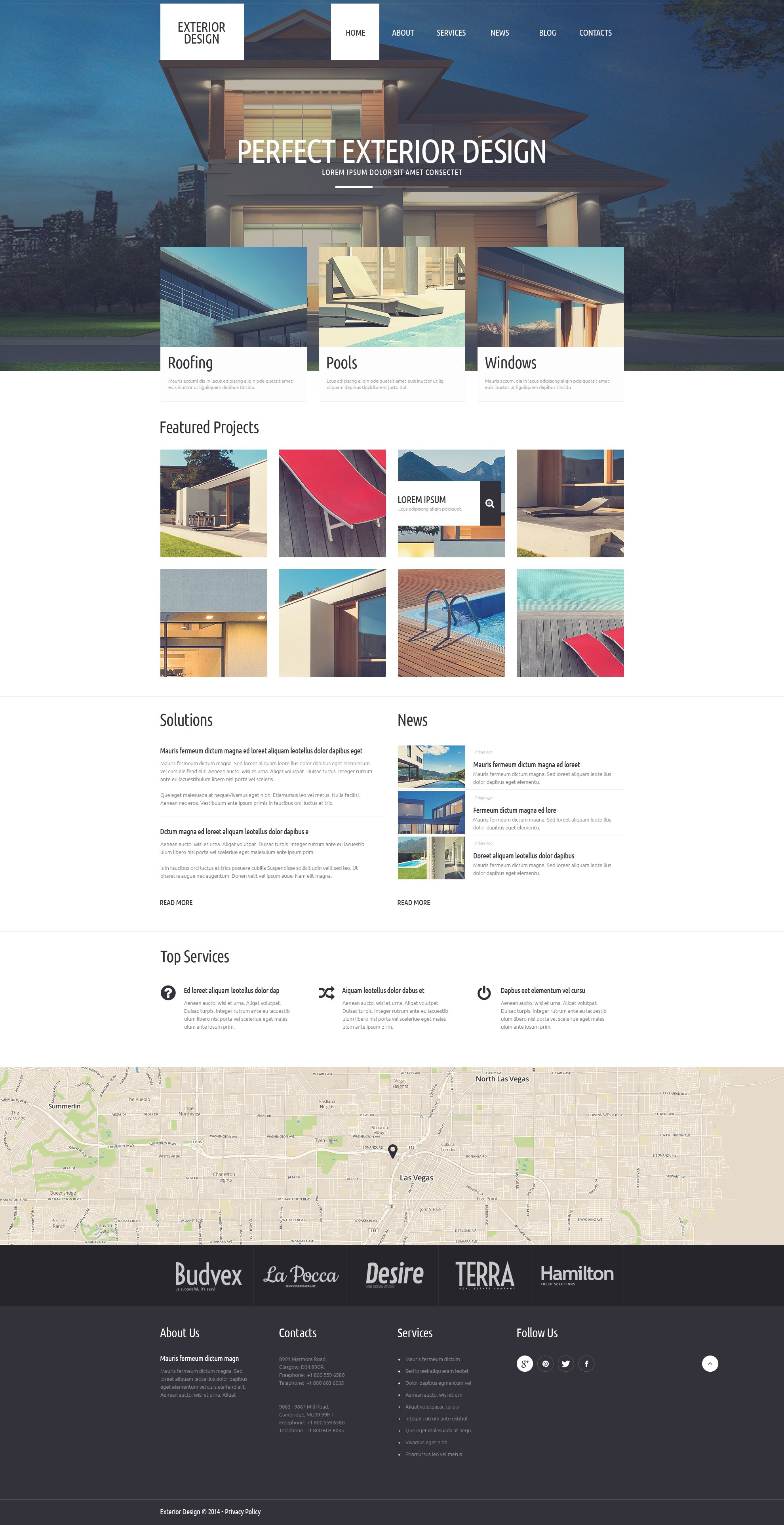 Refined Exterior Design WordPress Theme - screenshot