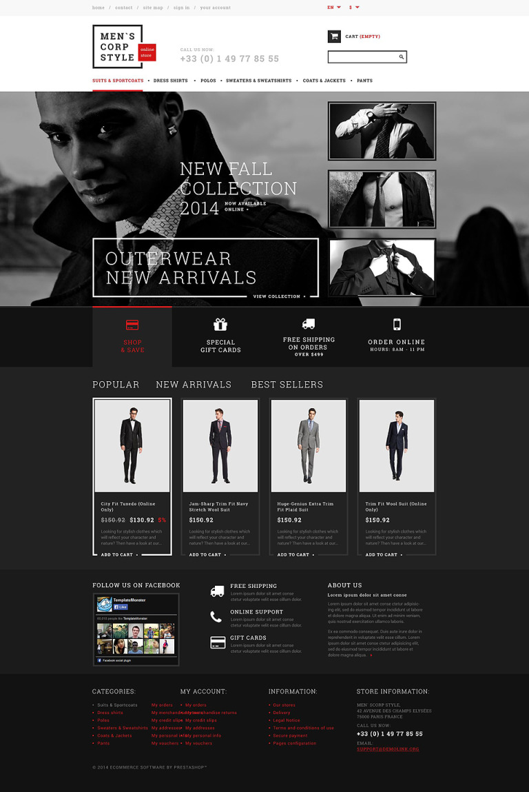 Relaxed Dress Code PrestaShop Theme New Screenshots BIG