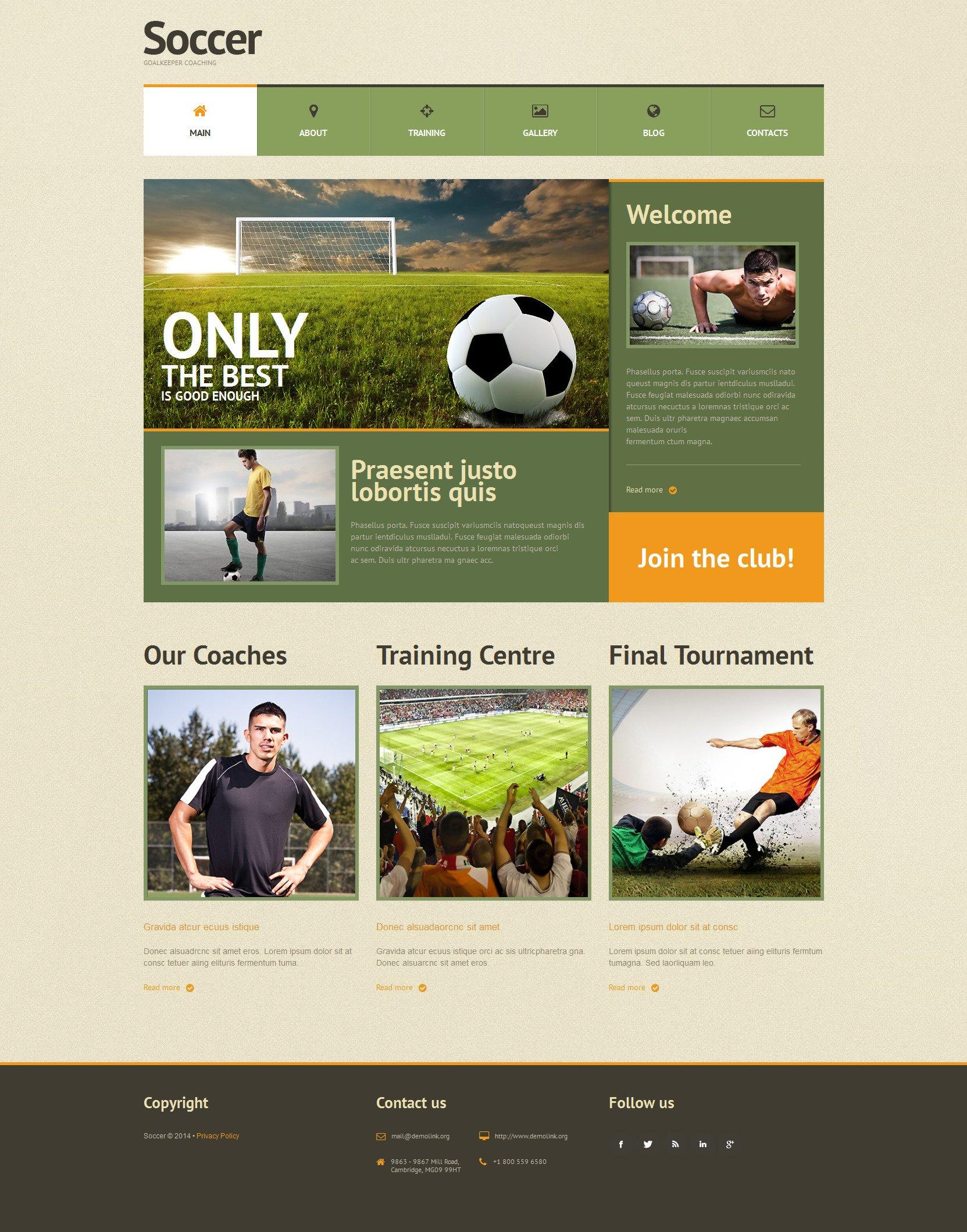 WordPress Theme #51301 für Fußball