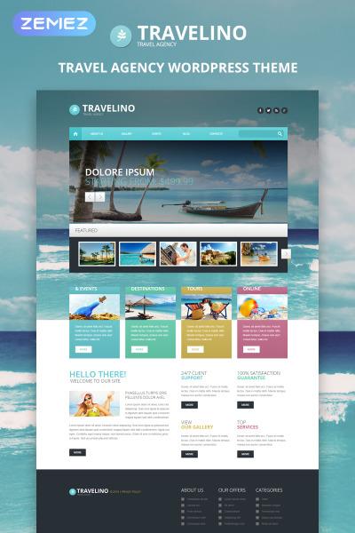 Responsywny motyw WordPress #51349 na temat: biuro podróży i turystyki #51349