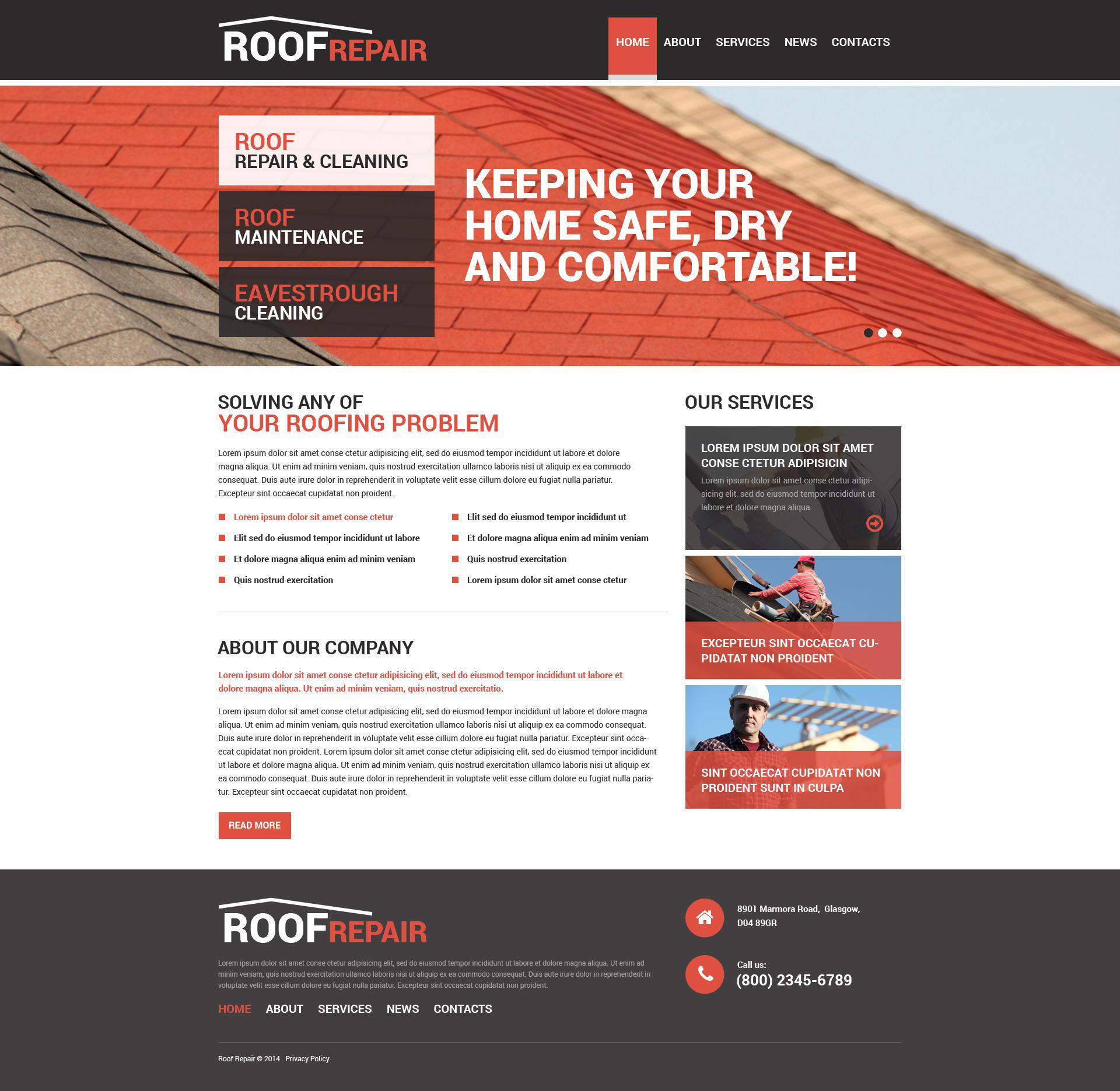 Responsywny szablon Drupal #51345 na temat: pokrycia dachowe