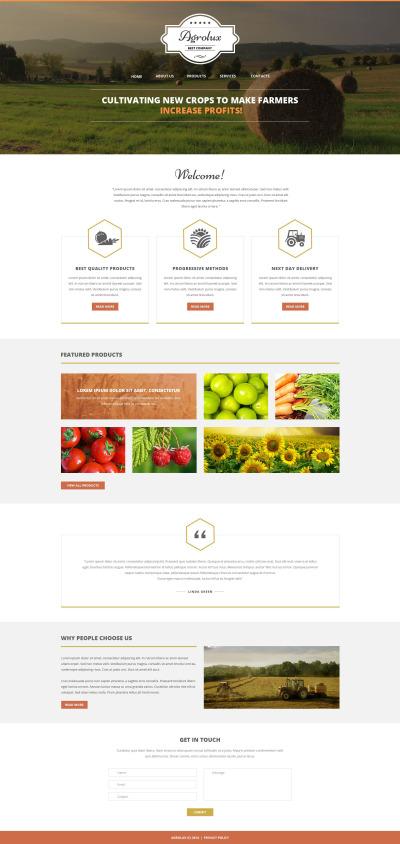 Responsywny szablon strony www #51341 na temat: rolnictwo