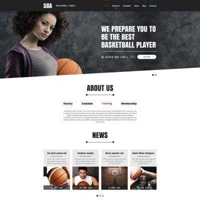 Basketball Responsive Šablona Webových Stránek