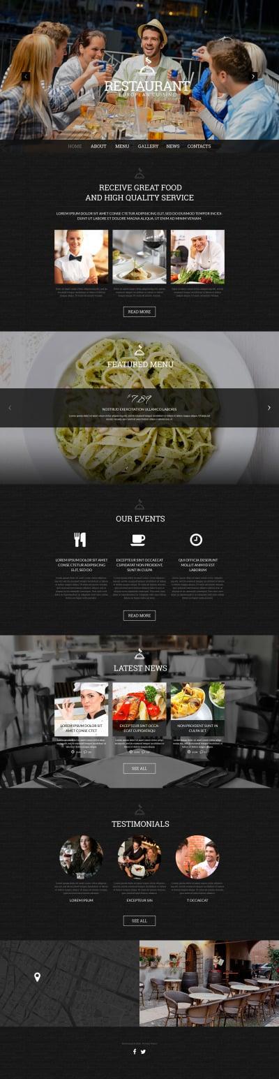 Spanish Restaurant Responsive WordPress Motiv