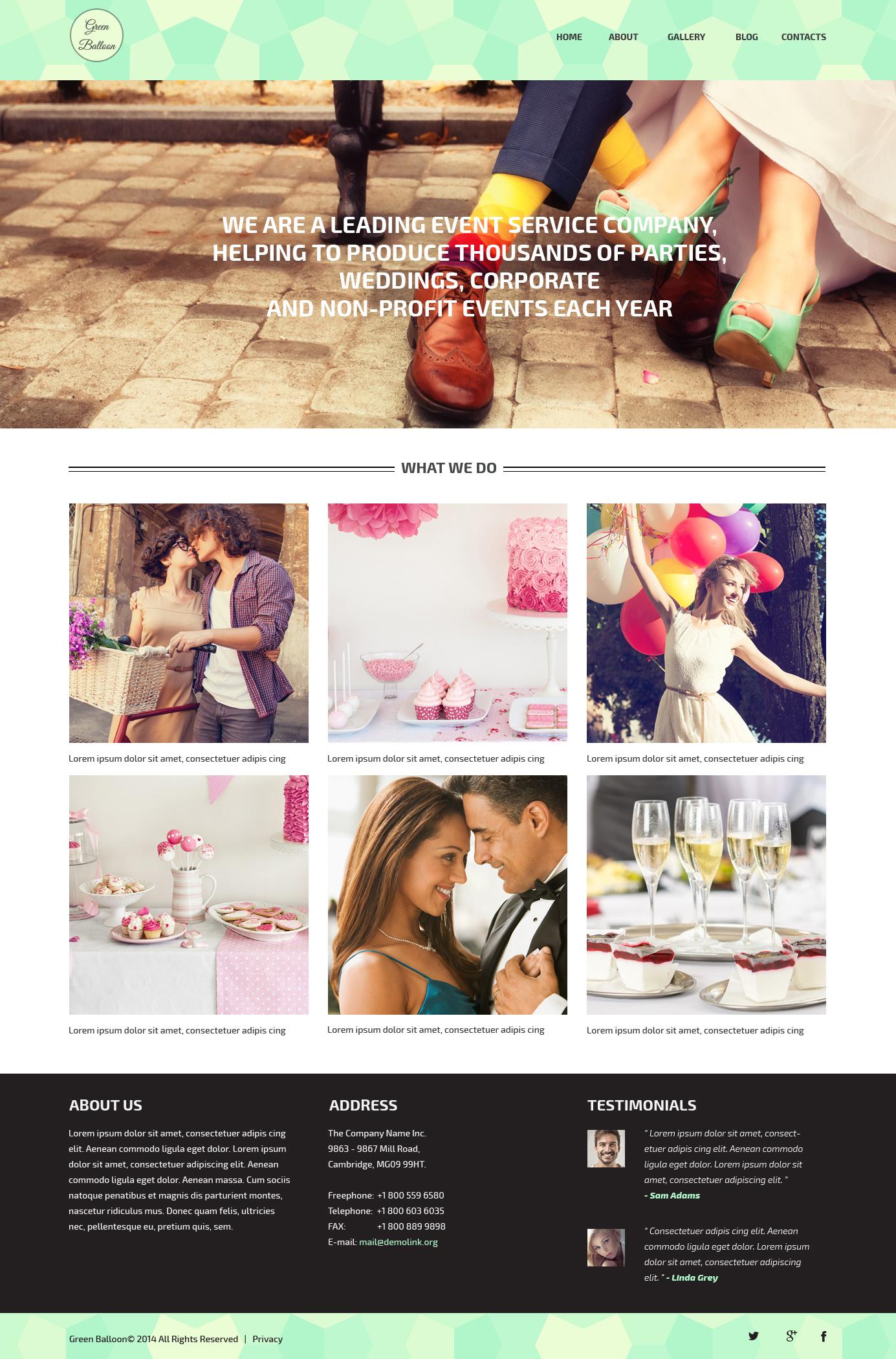 "Responzivní WordPress motiv ""Memorable Events Planner"" #51310"