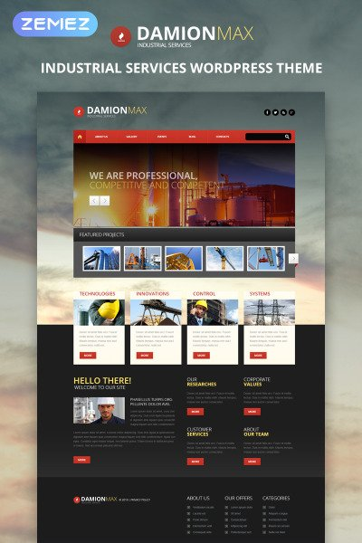 Industrial Responsive WordPress Sablon