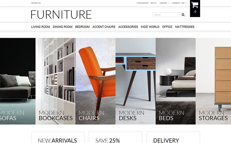 Selling Furniture Online Prestashop Theme 51386