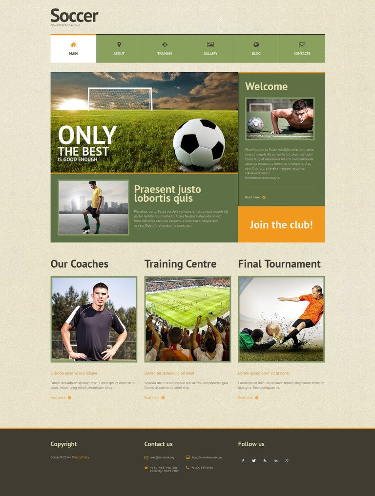 Soccer Responsive WordPress Theme New Screenshots BIG