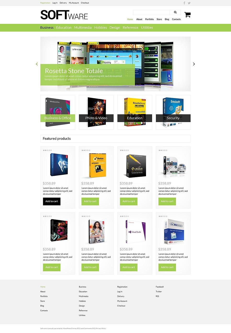 Software Store WooCommerce Theme New Screenshots BIG