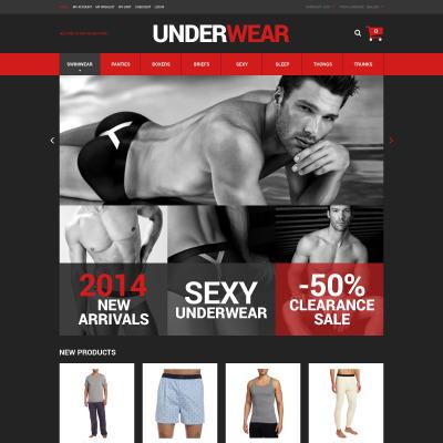 Thème Magento adaptatif  pour boutique de sous-vêtements pour hommes