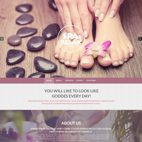 Spa Relax - Responsive Drupal Template