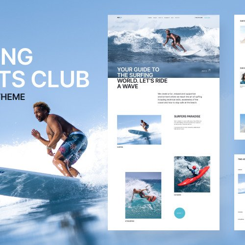 FunSurf Surfing Club - Surfing WordPress Template based on Bootstrap