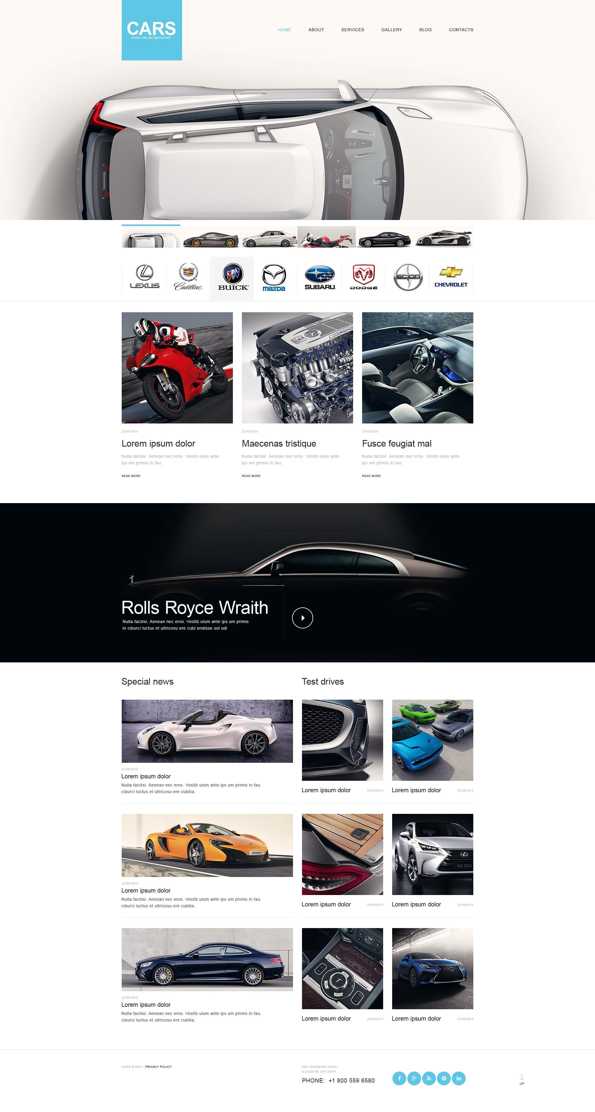 Szablon Muse #51316 na temat: samochody