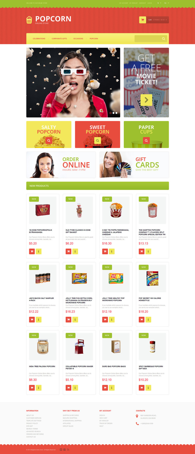 Tasty Popcorn Magento Theme New Screenshots BIG